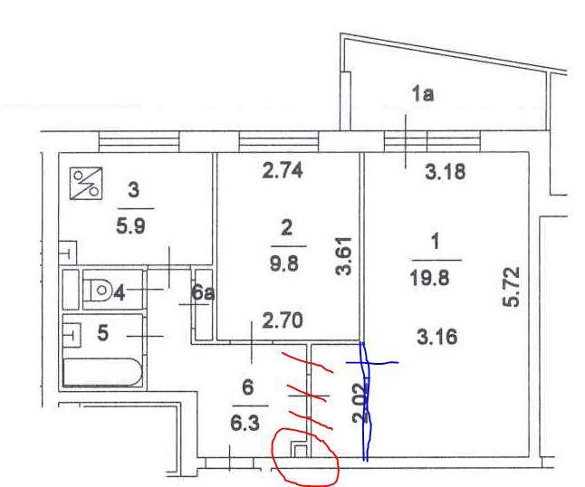 Размер балкона в доме 1 515 9..